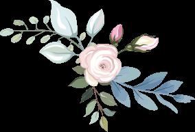 Engagement des mariées Illustration de bouquet de fleurs