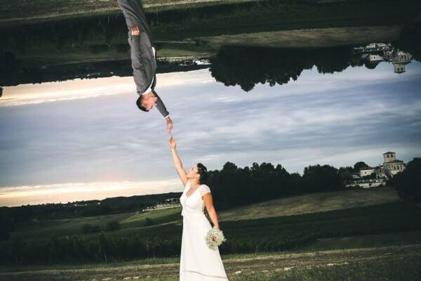 Post production photo effet miroir inversée de vos moments forts de votre mariage en photos