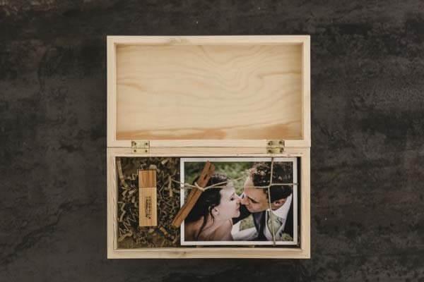 Bordeaux Coffret mariage en bois