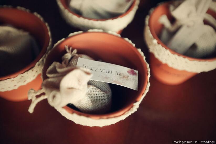 décoration Petit cadeau des mariés Des plantes à semer avec amour
