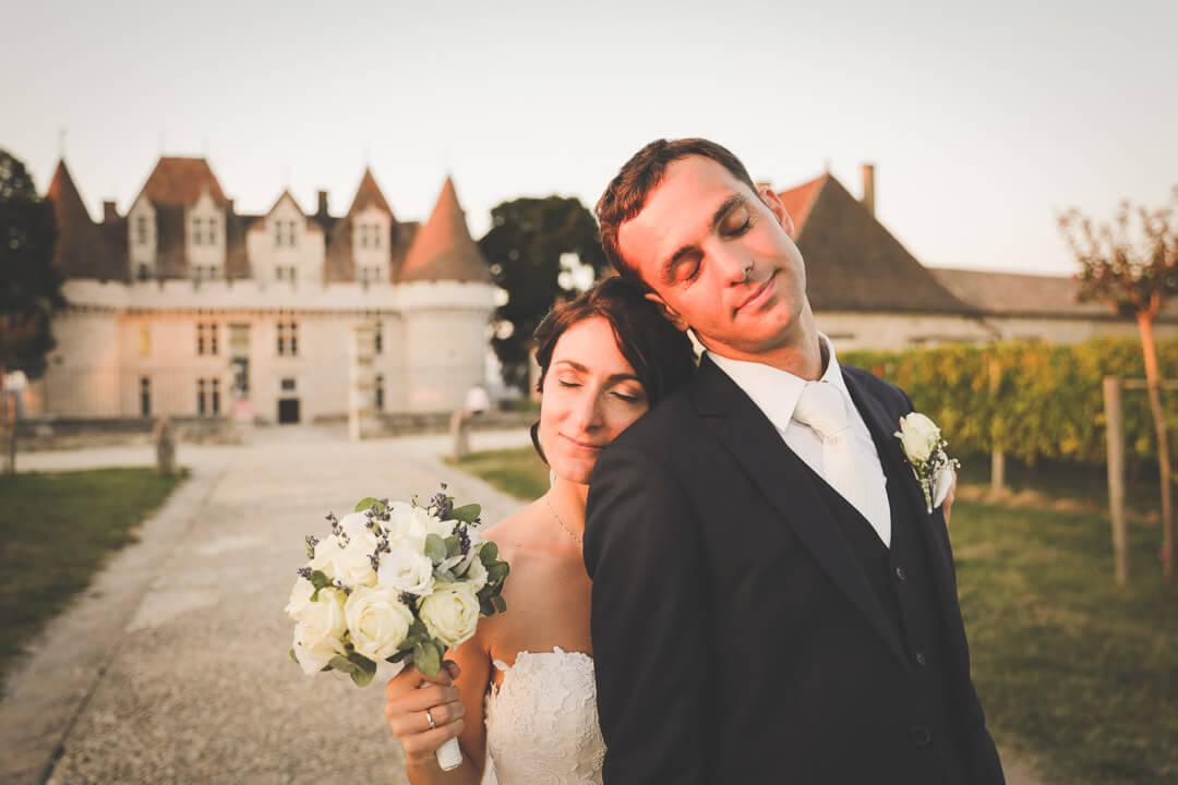 Douceur et volupté photo de couple au château Monbazillac