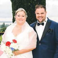 Mariés pour testimoniaux de photographe