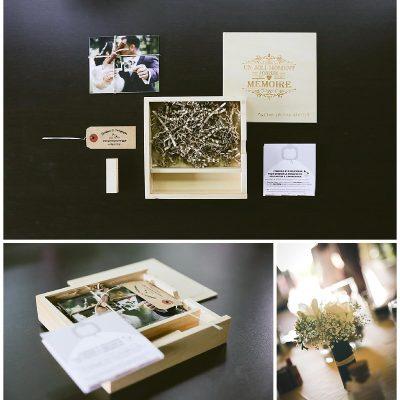 Box mariés Avec clé USB et développement de quelques photos- photographe de mariage