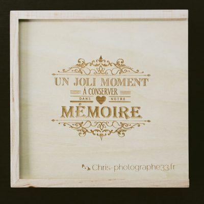 box mariés Un joli moment à conserver dans notre mémoire