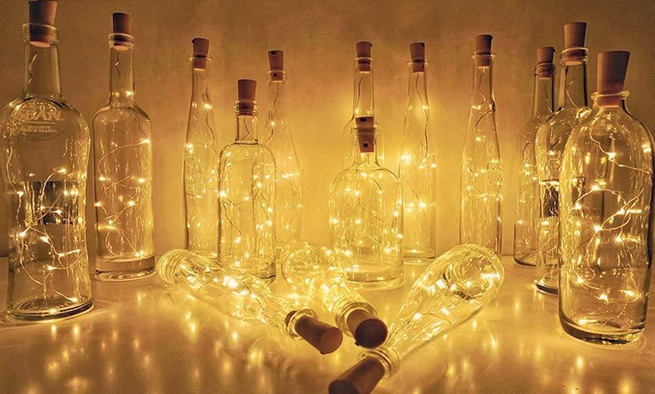 Lumière en Location décoration de mariage en gironde lumière led pour bouteille_à Bordeaux